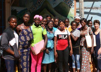 Les filleules étudiantes de l'association © Bernadette Payot